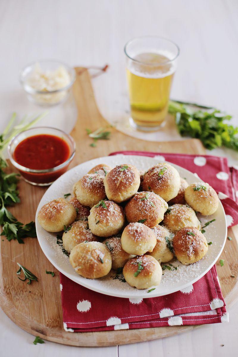 Homemade pretzel pizza bites (via abeautifulmess.com)