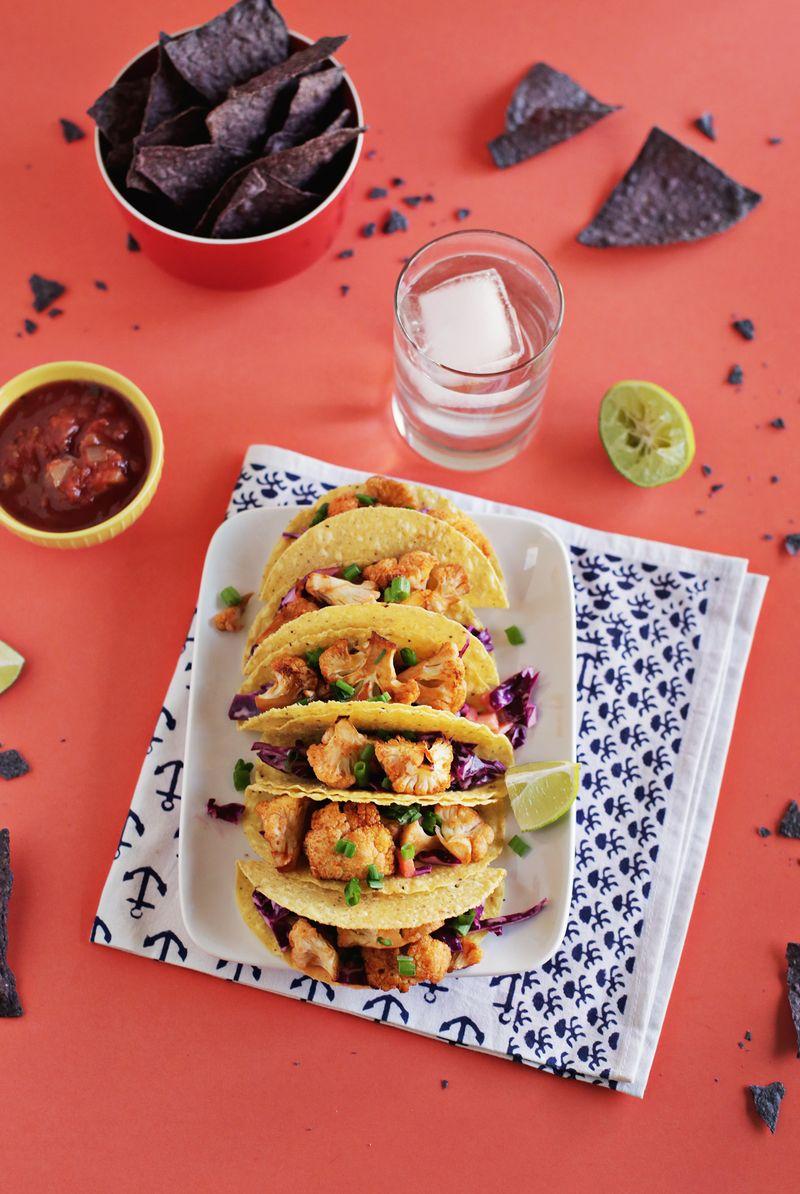 Spicy cauliflower taco (via abeautifulmess.com)