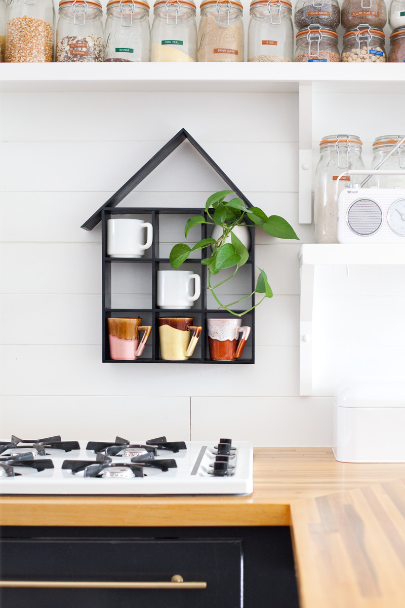 House shaped shelf diy a beautiful mess for Kitchen decoration diy