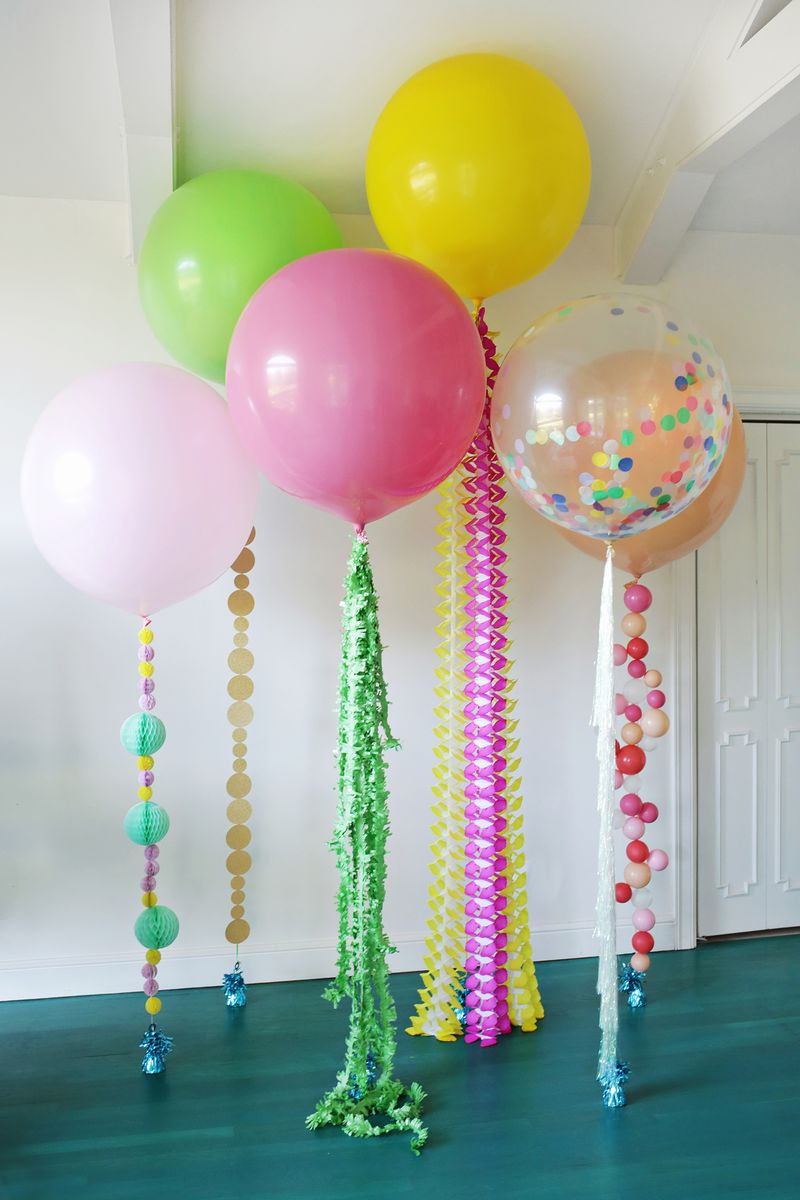5 cute balloon ideas for party decor! (click through for tutorial)