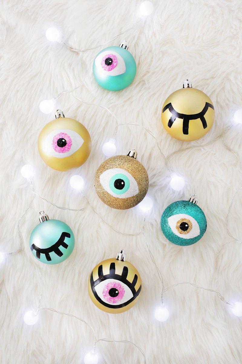 eye ornament diy - Diy Modern Christmas Decorations