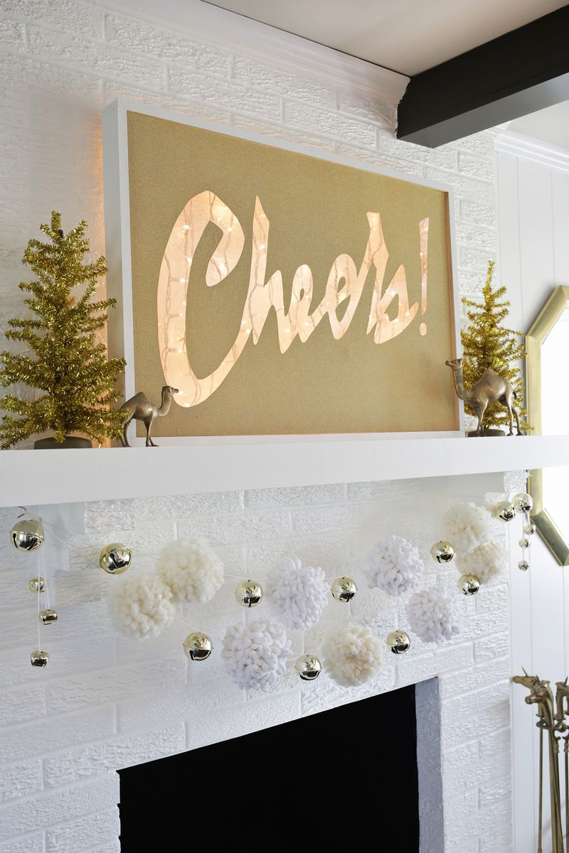 Cheers! Light box marquee DIY (click through for tutorial)
