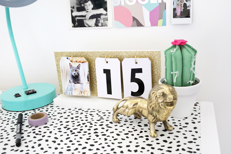 Diy Daily Flip Calendar : Perpetual flip calendar diy a beautiful mess