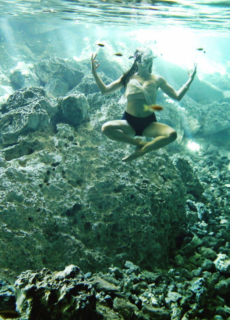 Angela underwater