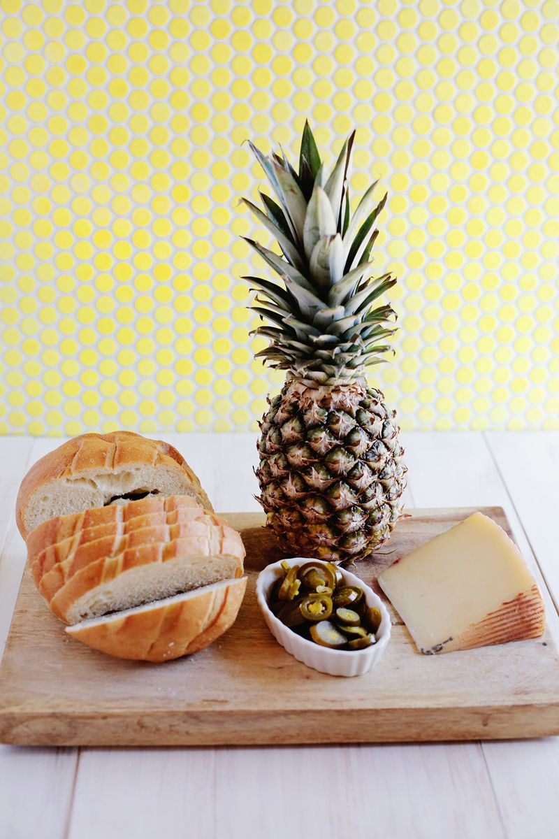 Pineapple grilled cheese
