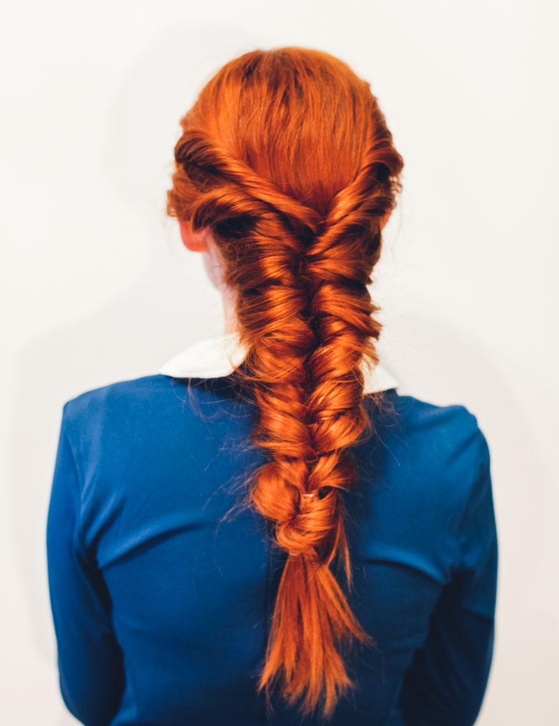 No fuss faux fishtail tutorial a beautiful mess for Fish tails braid