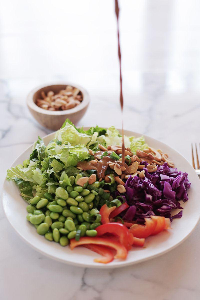 Creamy Tahini Chopped Salad (via abeautifulmess.com)