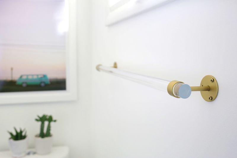 Lucite Towel Bar Diy A Beautiful Mess