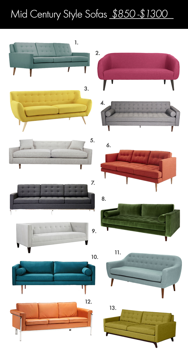 Sofa Style the ultimate mid century style sofa guide! – a beautiful mess