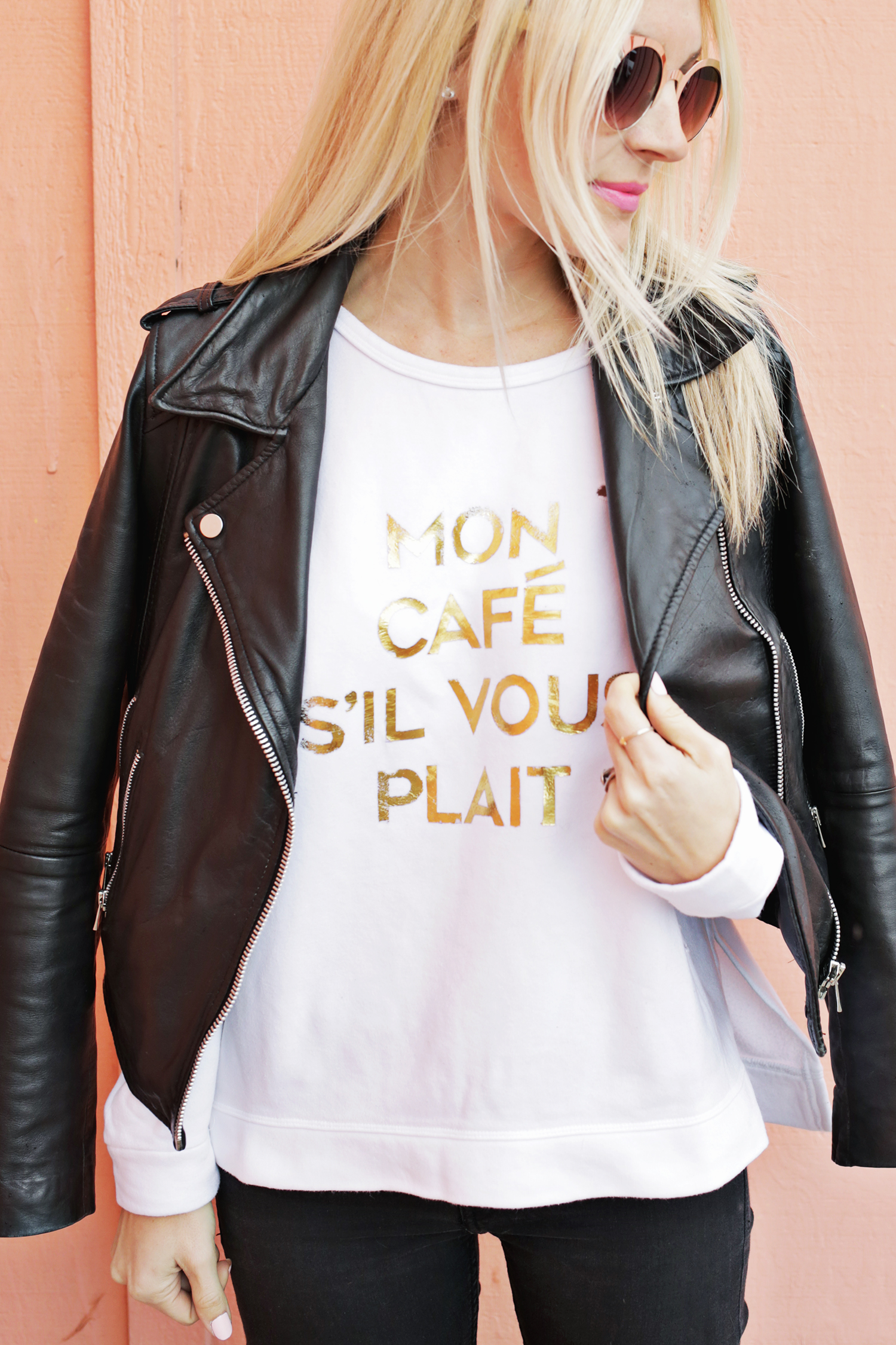 Gold foil phrase DIY! (click through for tutorial)