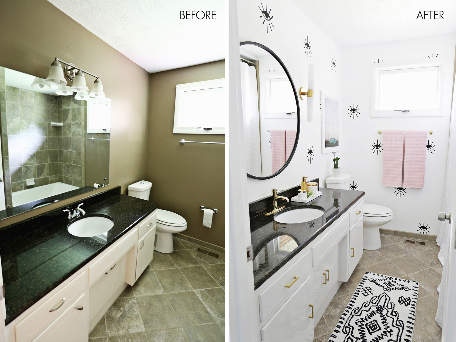 Captivating Love This Guest Bathroom Makeover (click Through For Before + After Photos!) Part 29