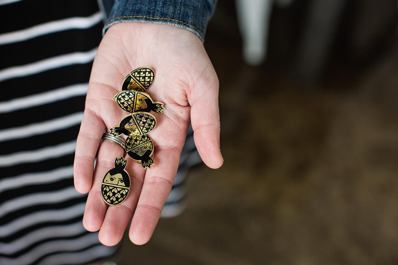 The Golden Girl Rum Club pins