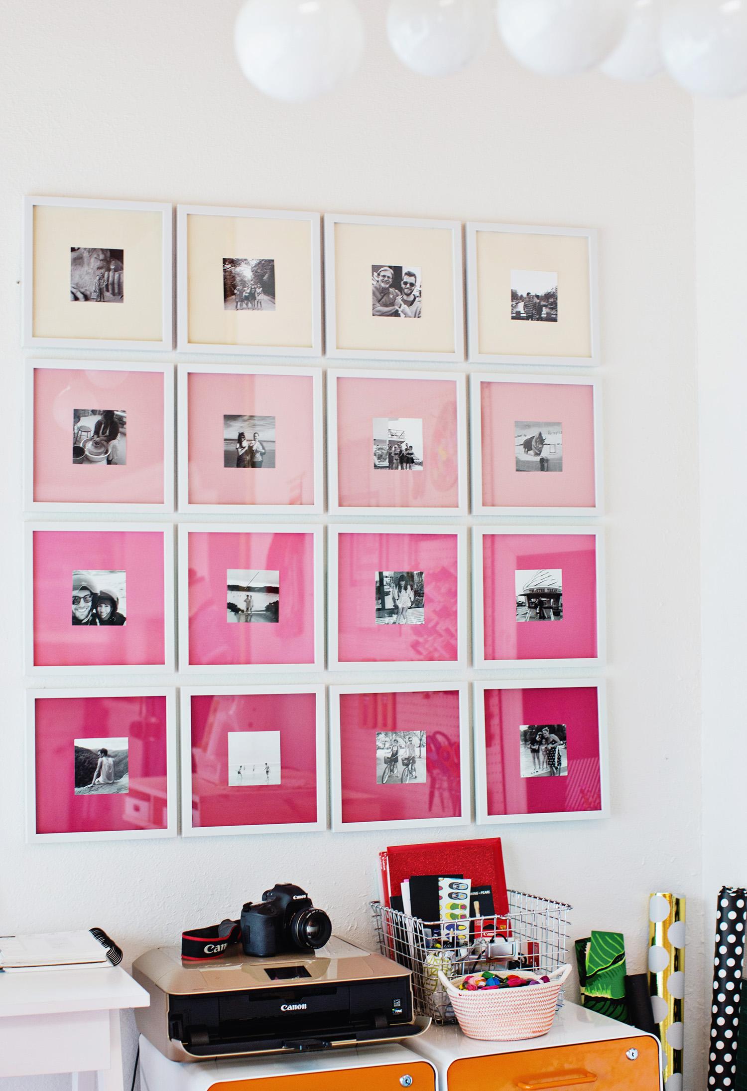 Emma's ombre gallery wall (via abeautifulmess.com)