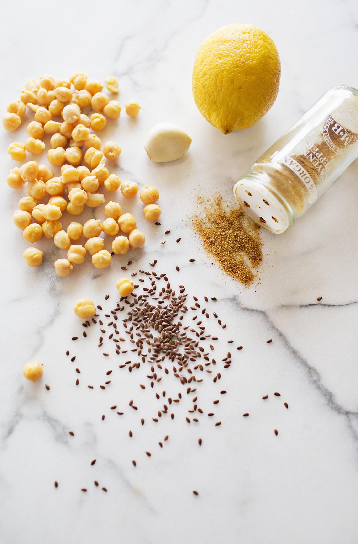 Simple hummus ingredients