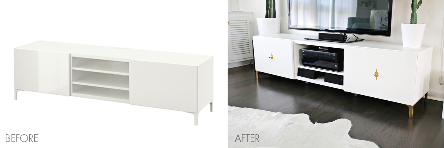 Ikea Restyle Make Your Tv Stand More Midcentury Click Through For