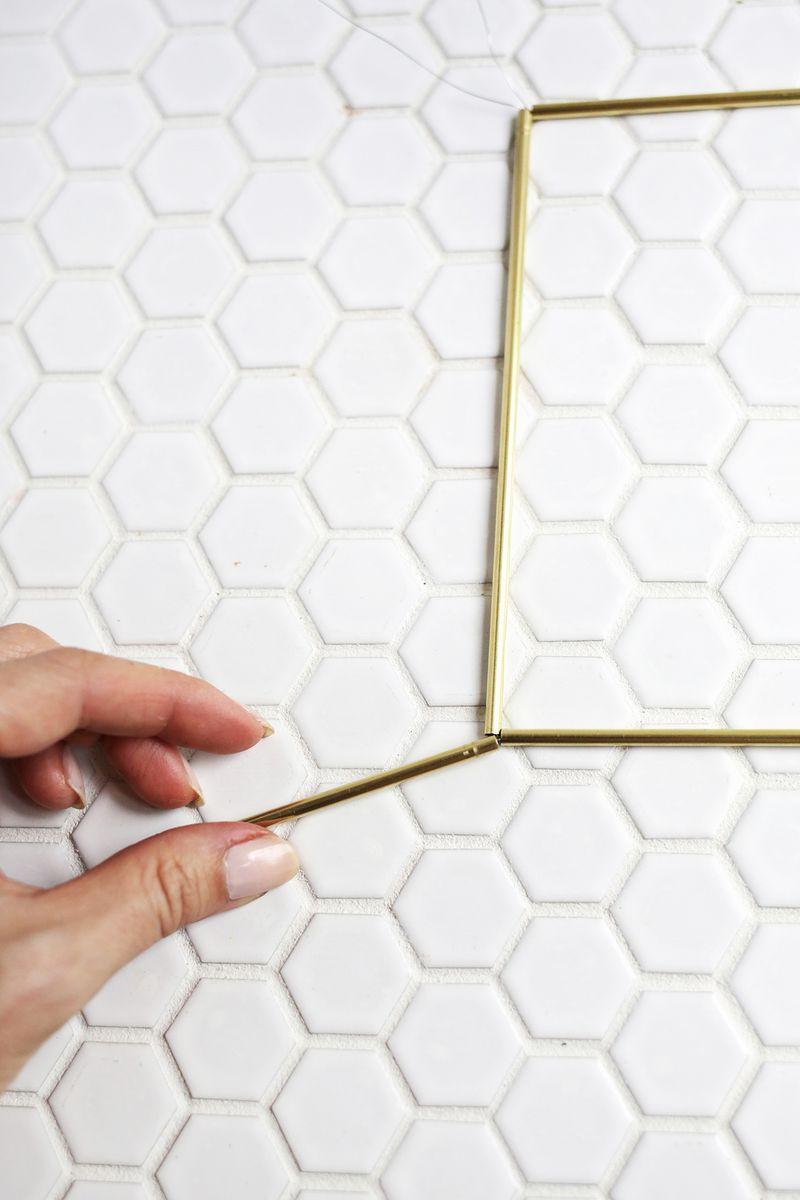 Brass Earring Pyramid DIY (click through for more)