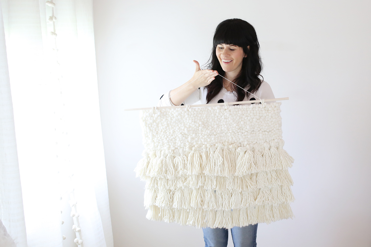 Step 4 pose with your fiber art in the dorkiest way possible