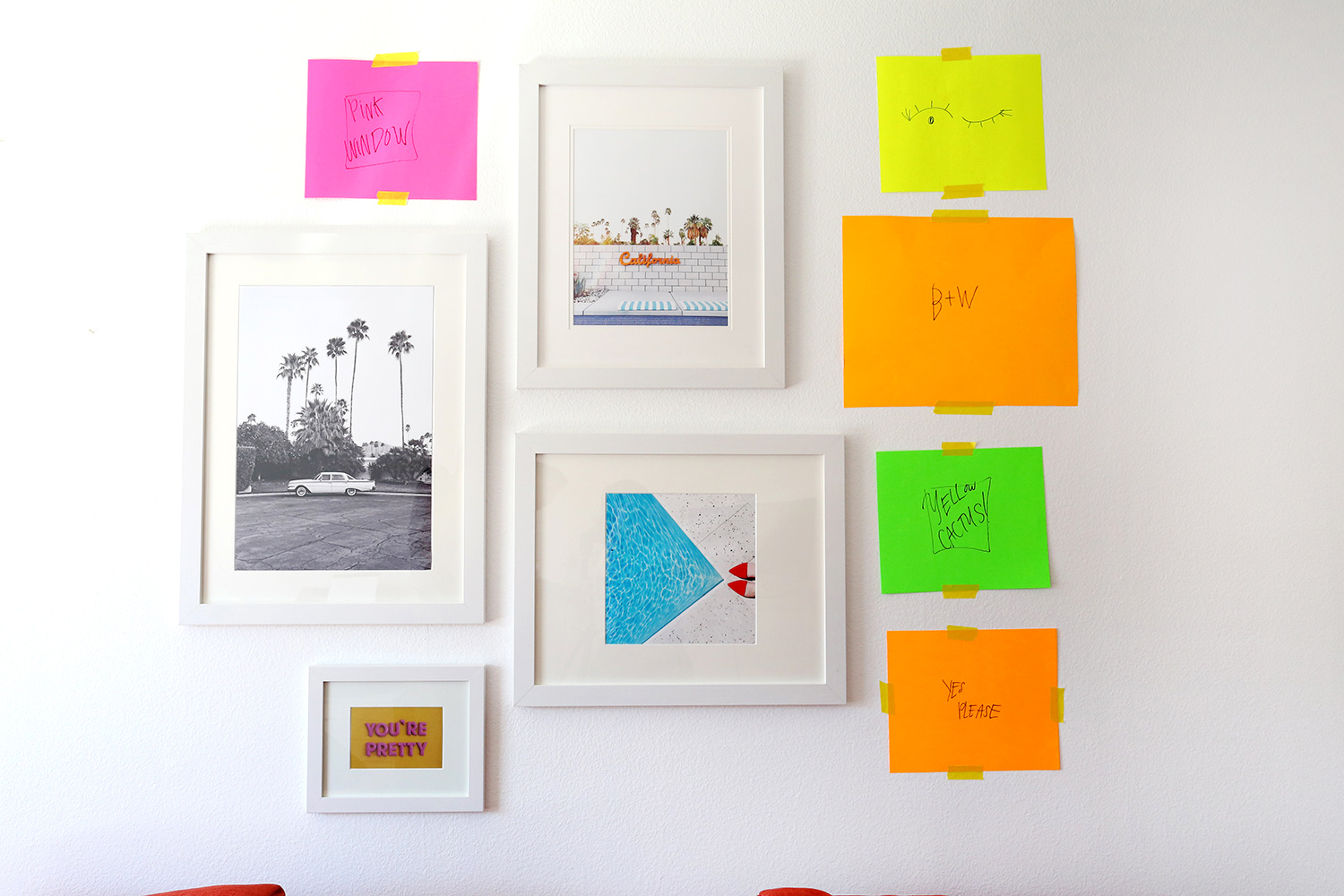 Katie\'s Gallery Wall - A Beautiful Mess