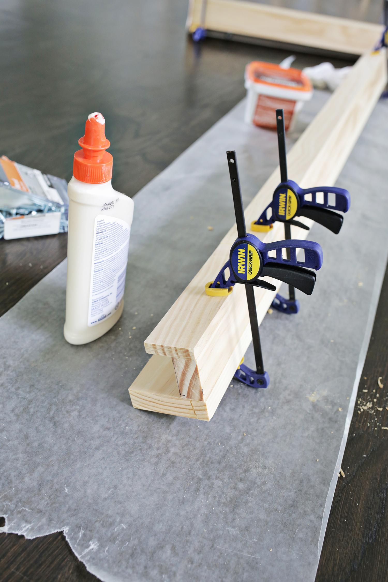 Photo ledge DIY! (click through for tutorial)