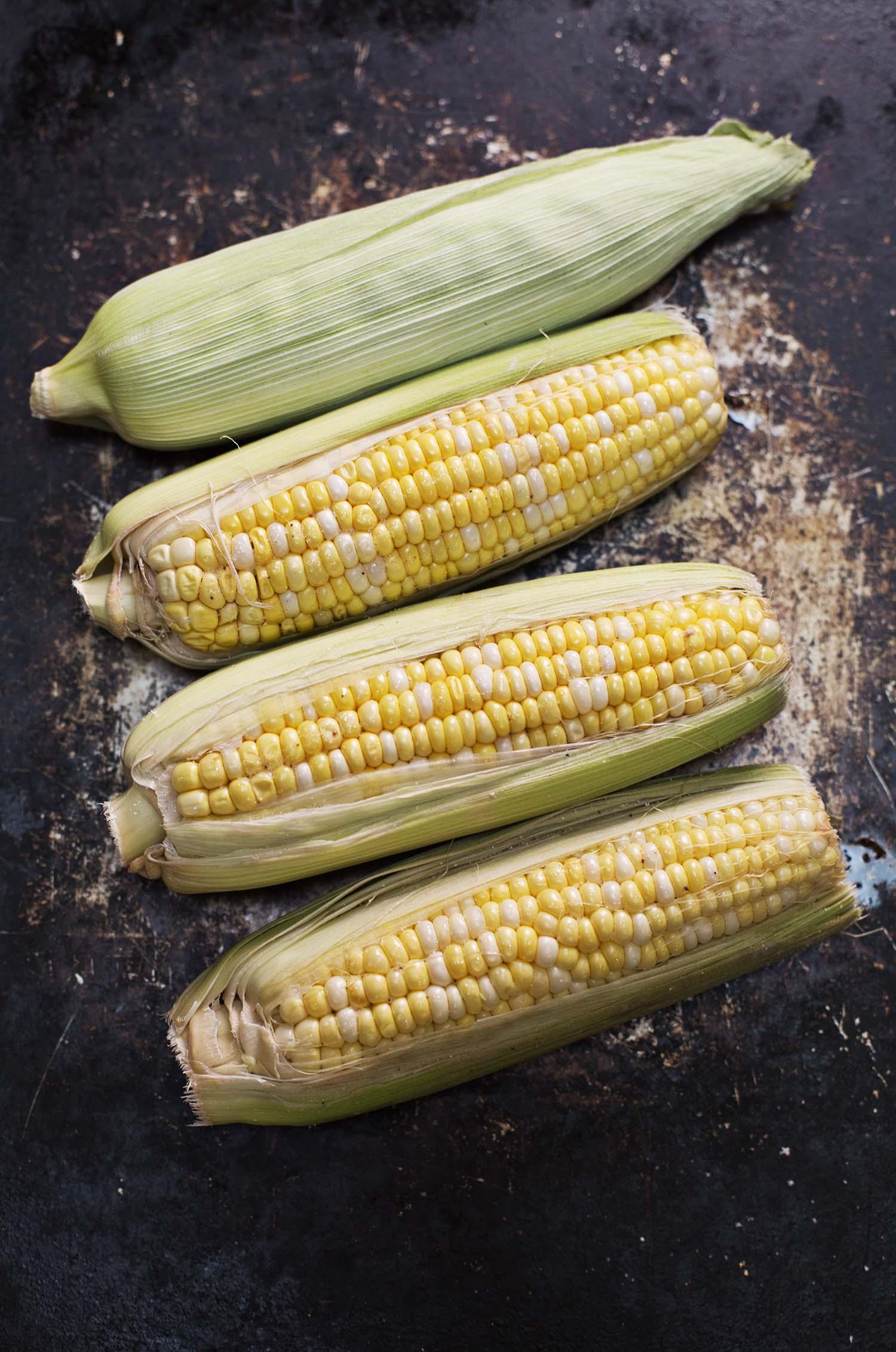 Roasting corn