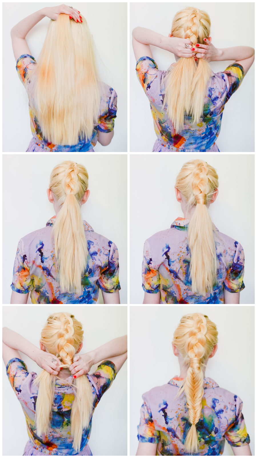 Summer mixed texture braid (click-through for the tutorial)