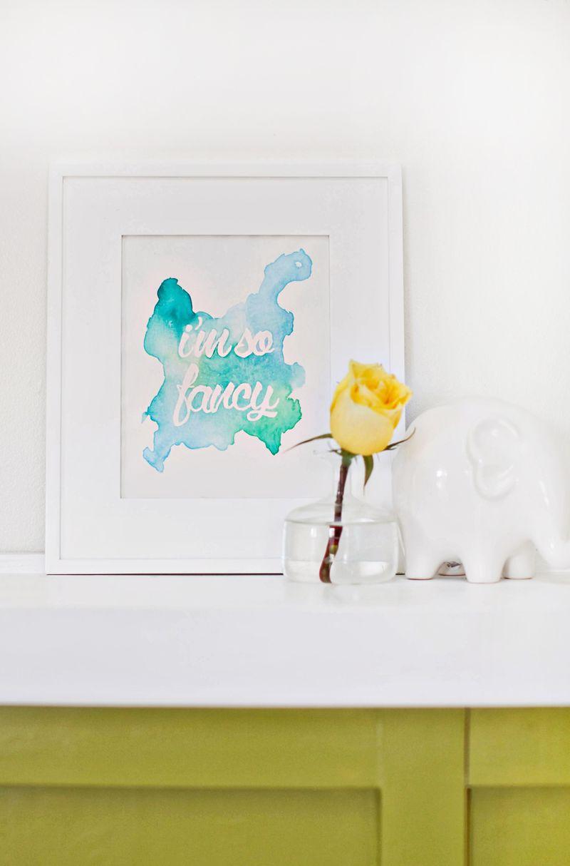 Watercolor phrase art DIY