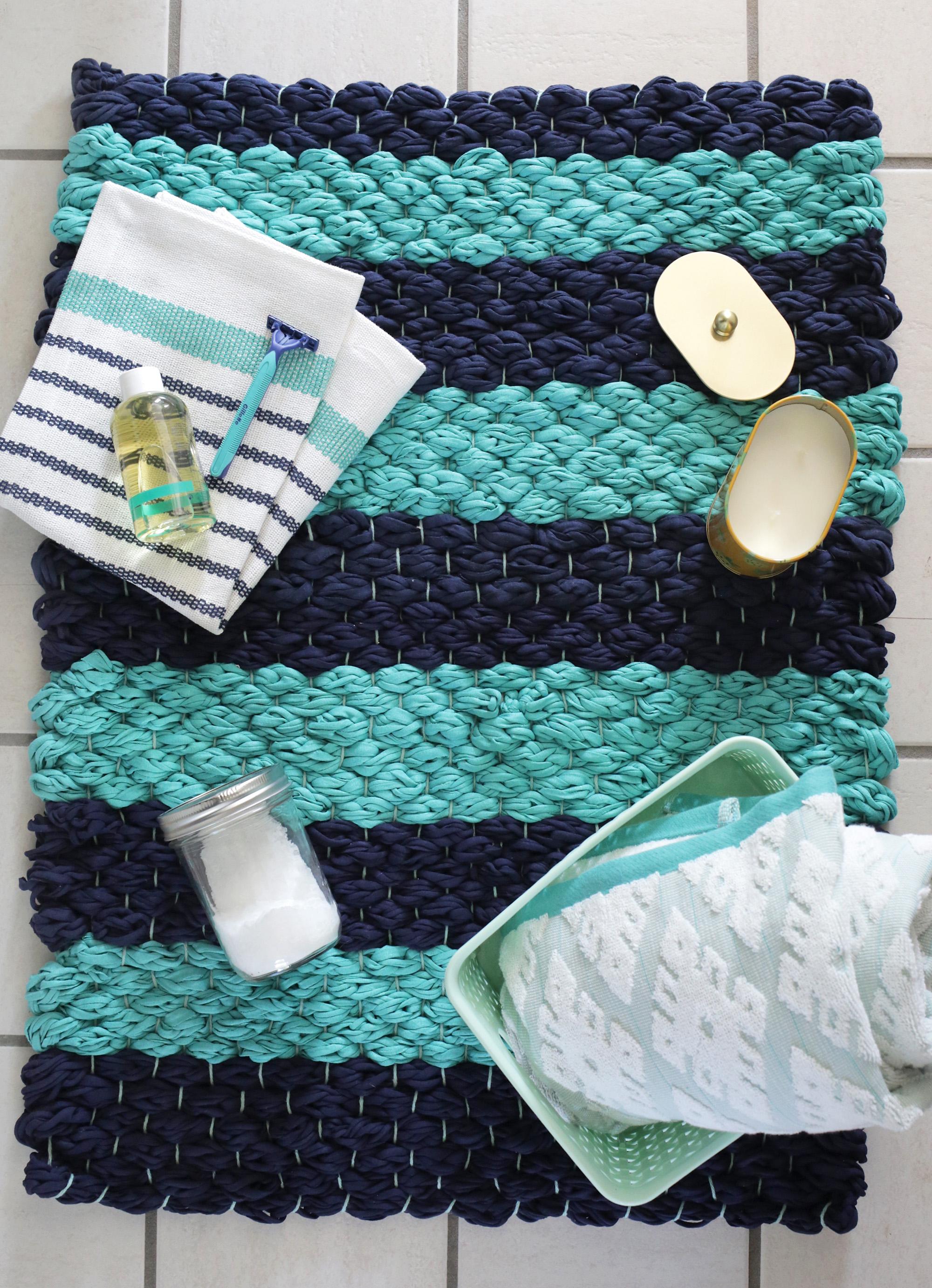 Chunky woven bath mat DIY