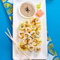 "Vegan ""Shrimp"" Tempura Rolls with Black Sesame Sauce  - June 24, 2016"