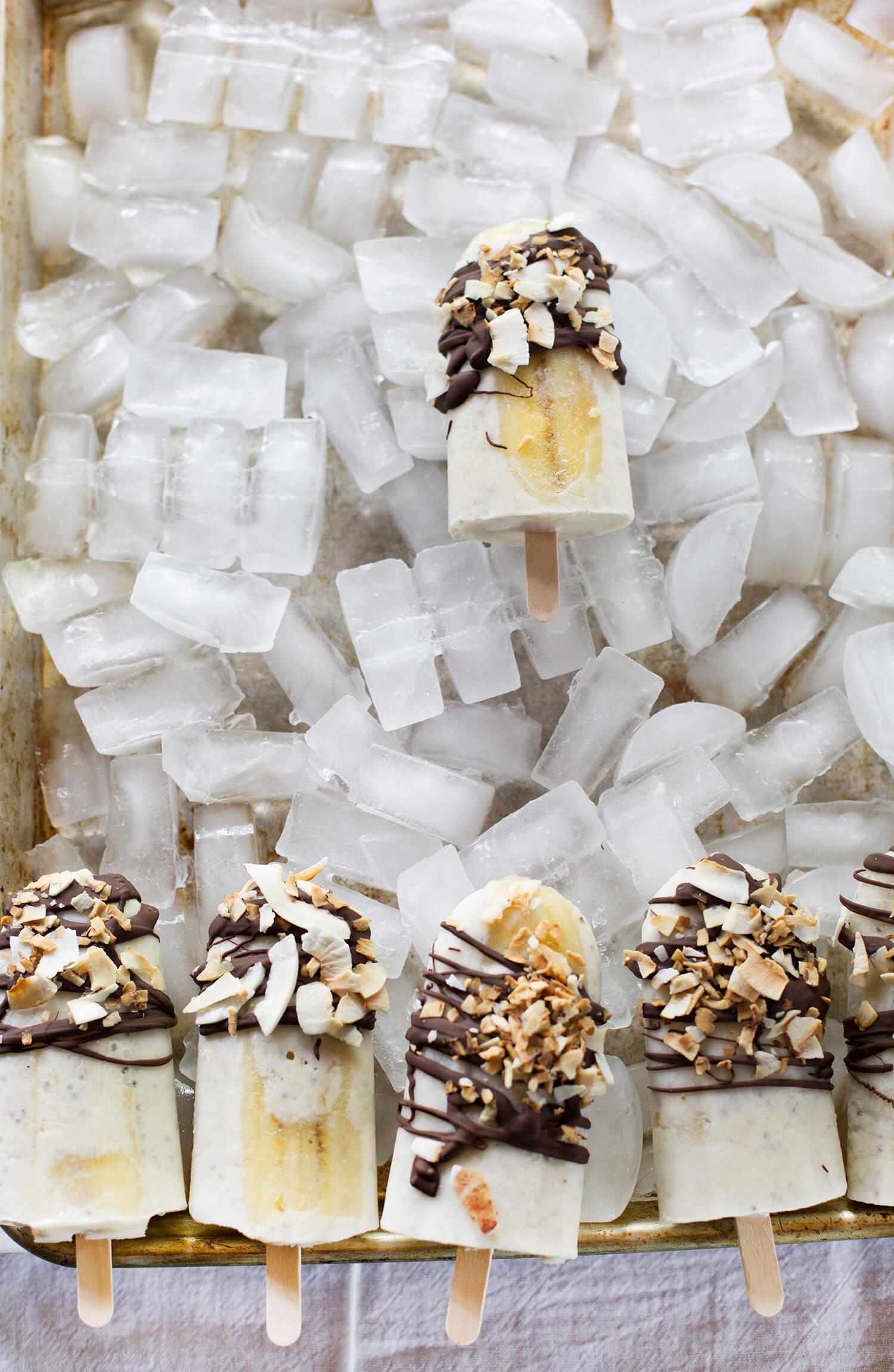 Coconut banana popsicles