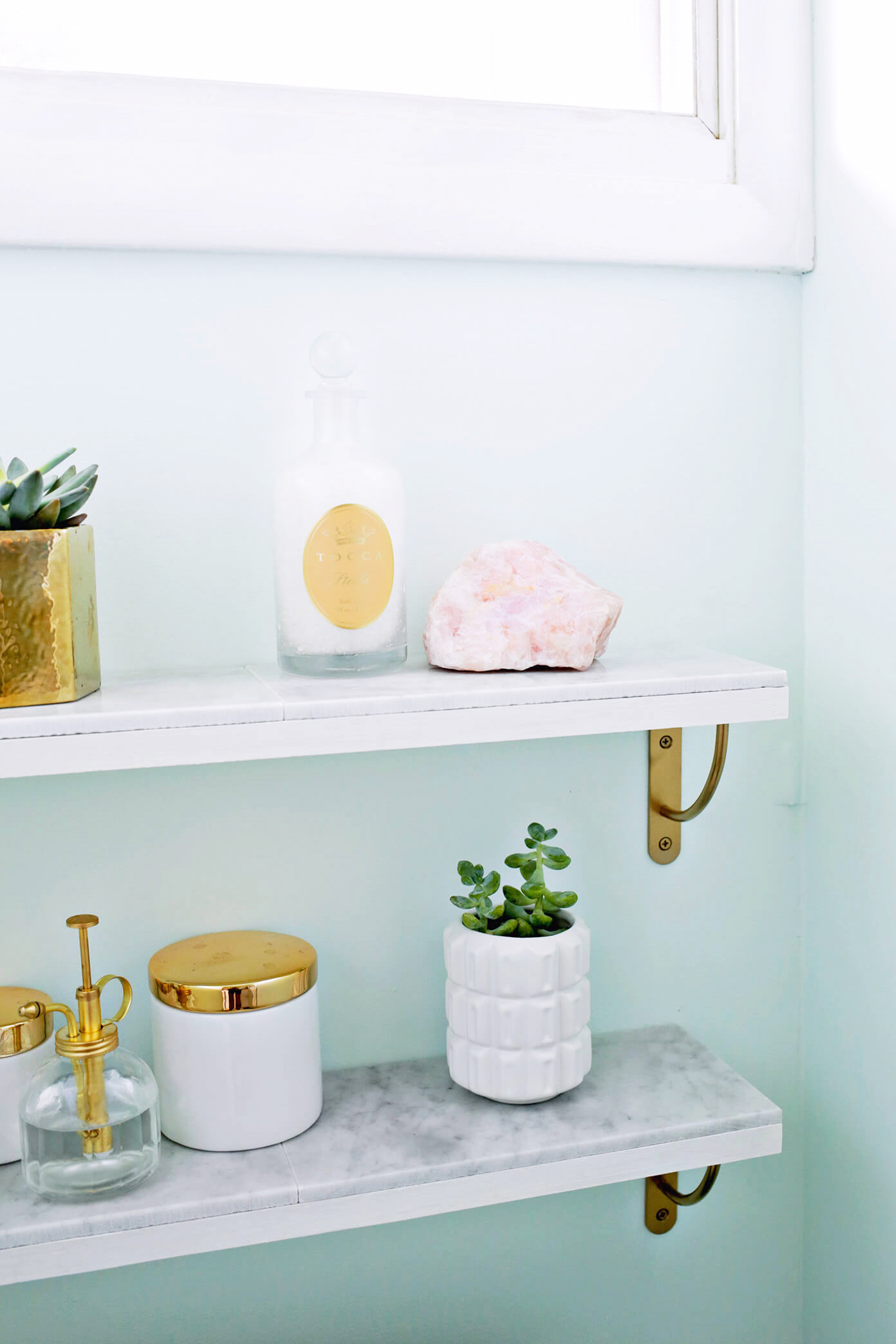 Marble Shelving DIY - A Beautiful Mess