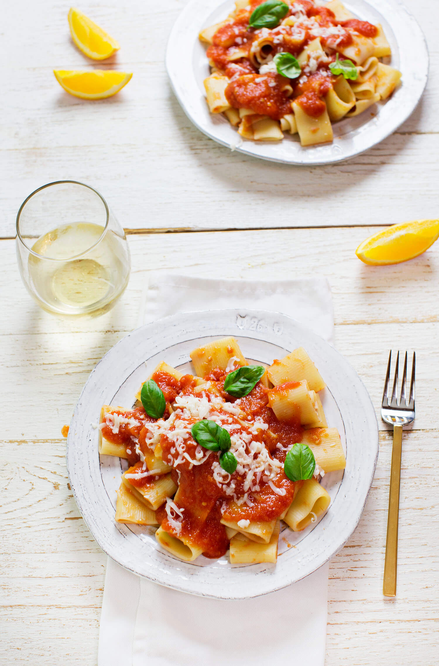 Fresh tomato and orange sauce (via abeautifulmess.com)