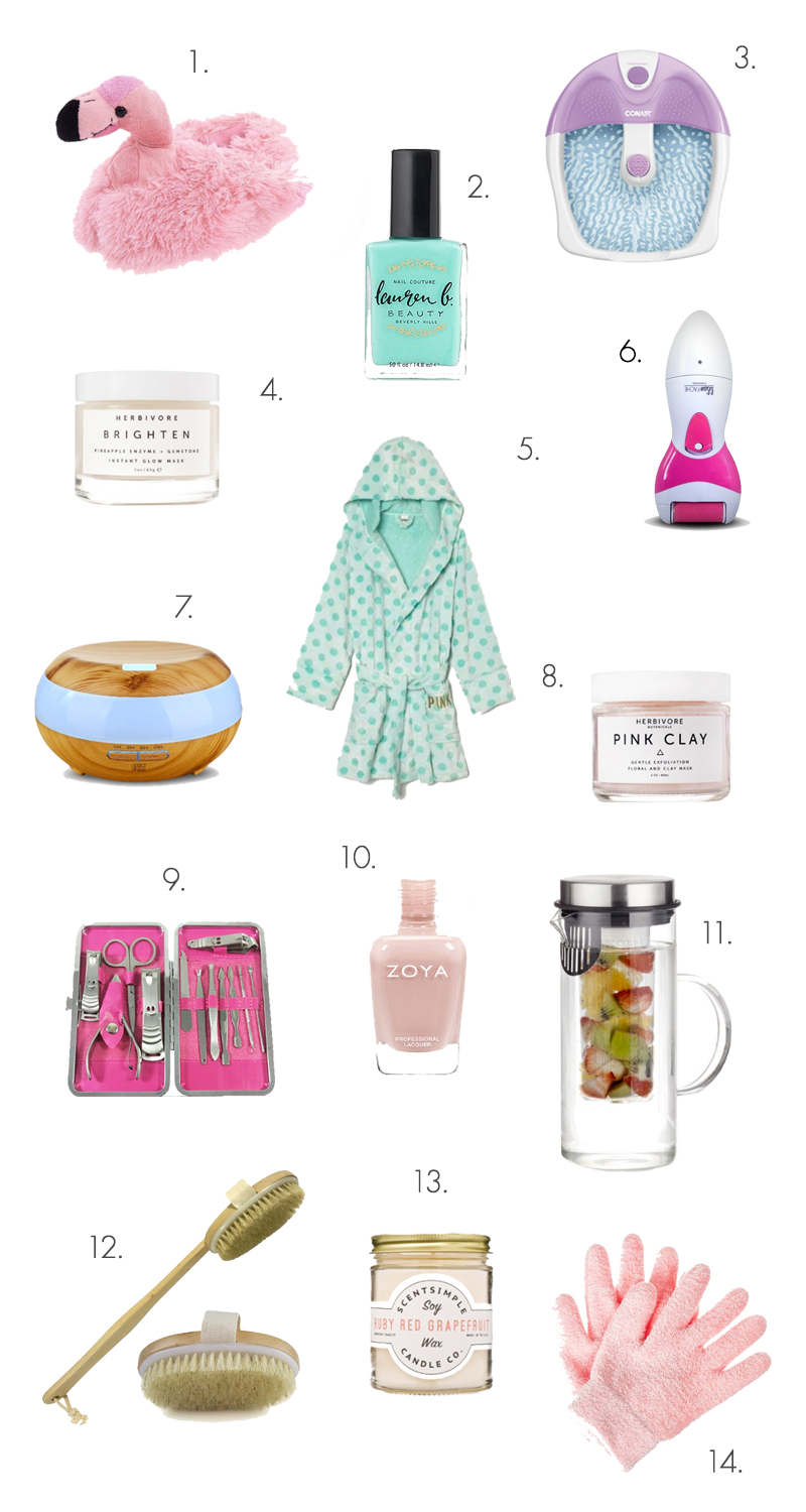 The Ultimate Spa Night Shopping List! (click through for links)