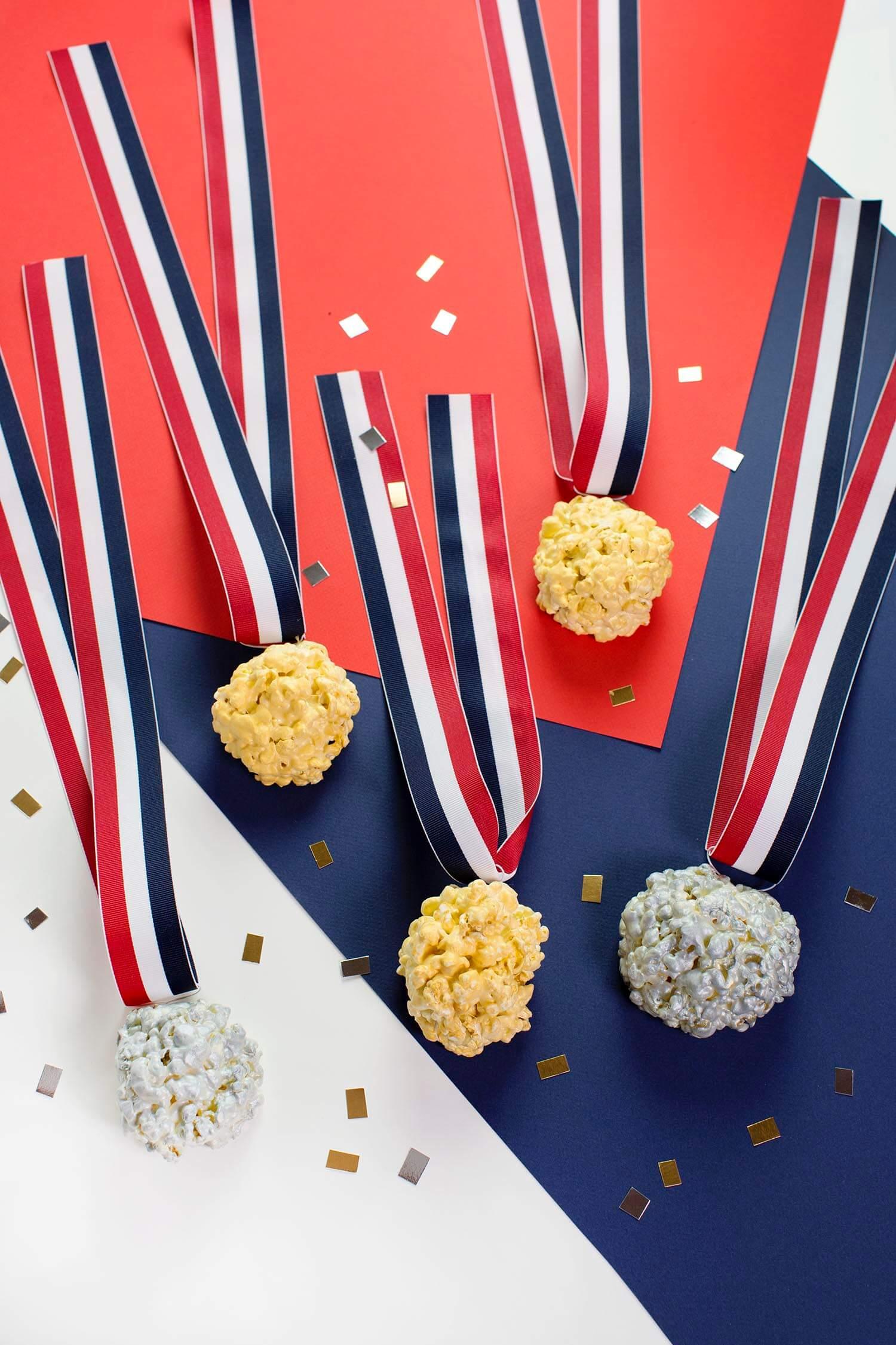 Olympic Medal Popcorn Balls (via abeautifulmess.com)