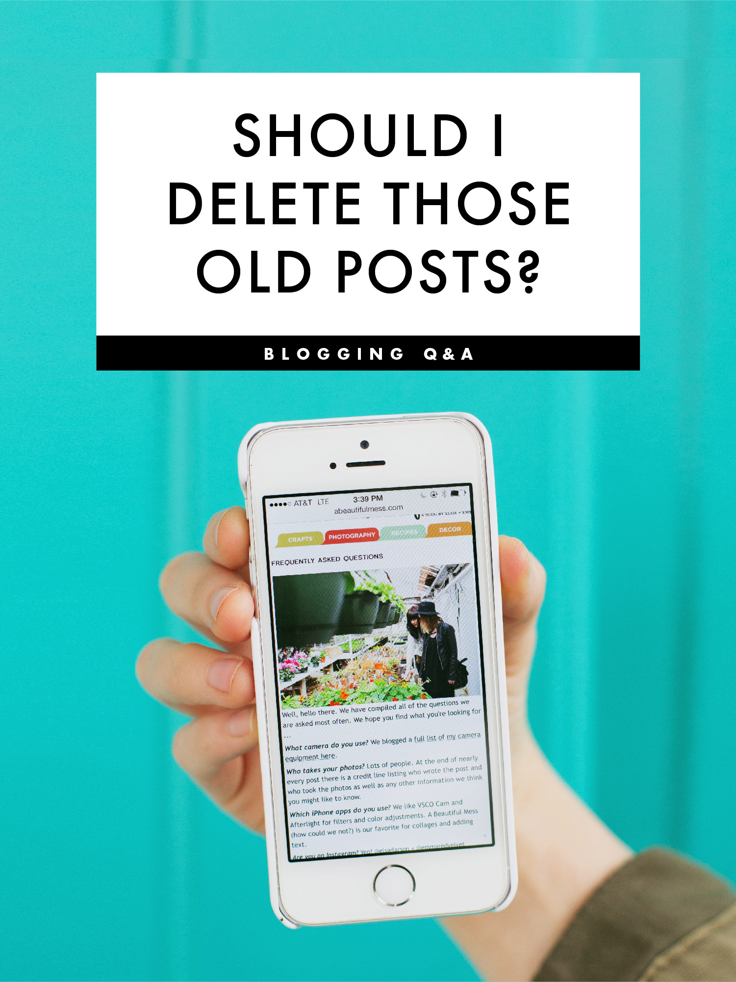 Will deleting old posts help or hurt my blog?