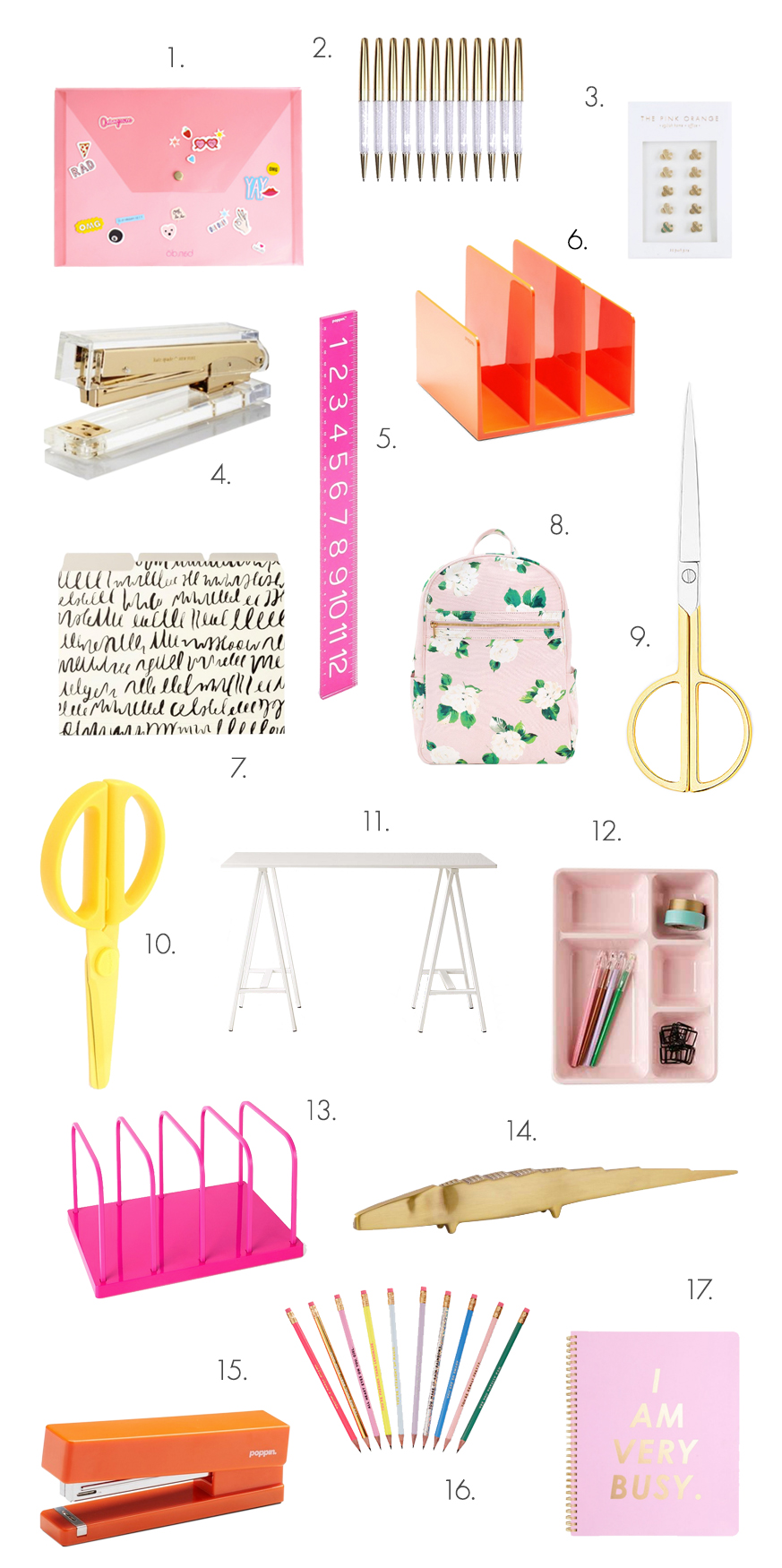 The ultimate back-to-school shopping list for grown-ups! (click through for links)