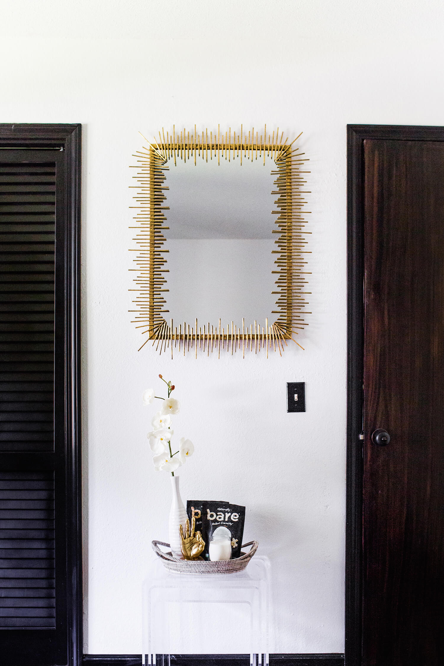 Guest bedroom mirror