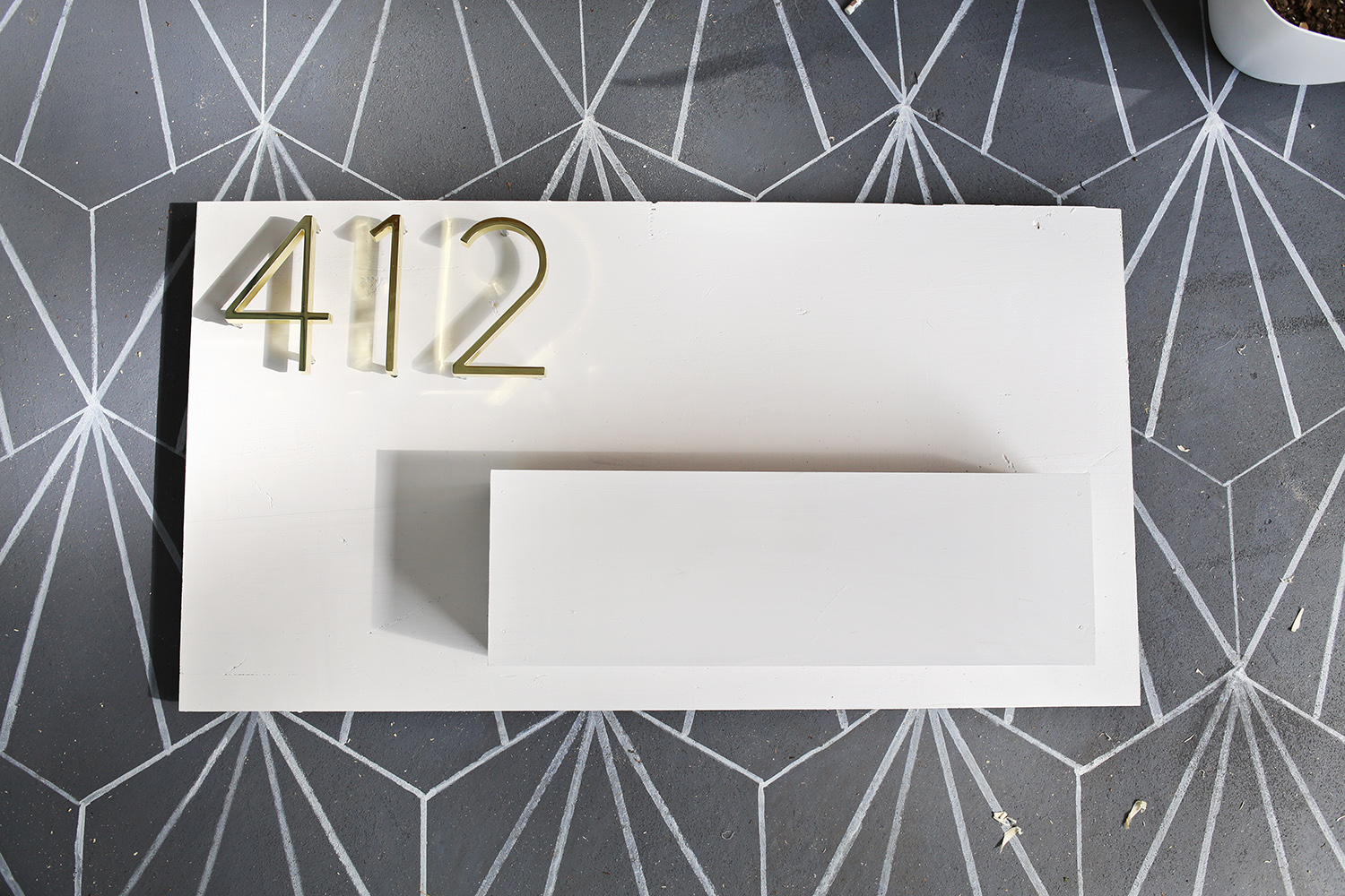 Modern House Number Planter - Beautiful Mess - ^