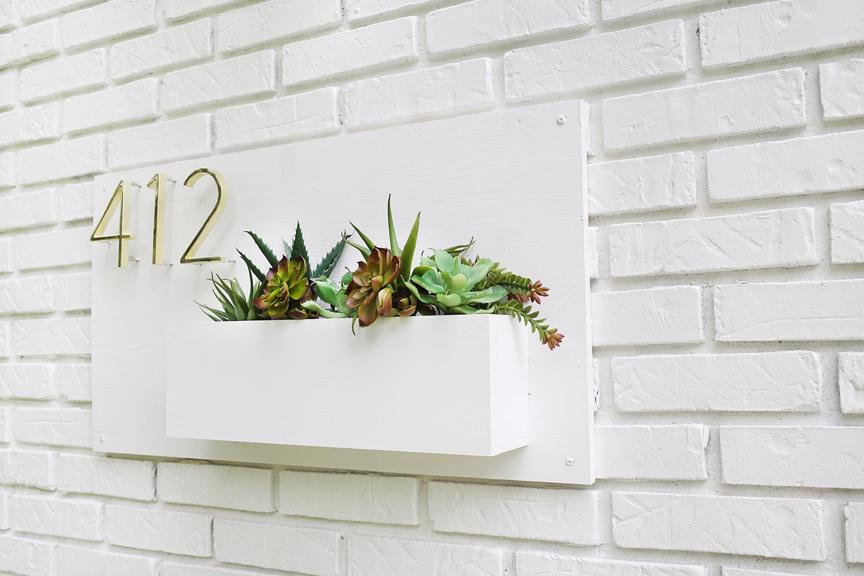 Modern Address Planter