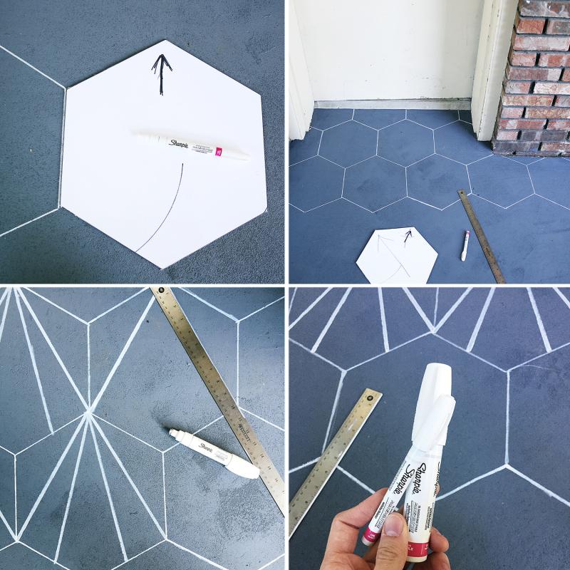 Cement tile steps