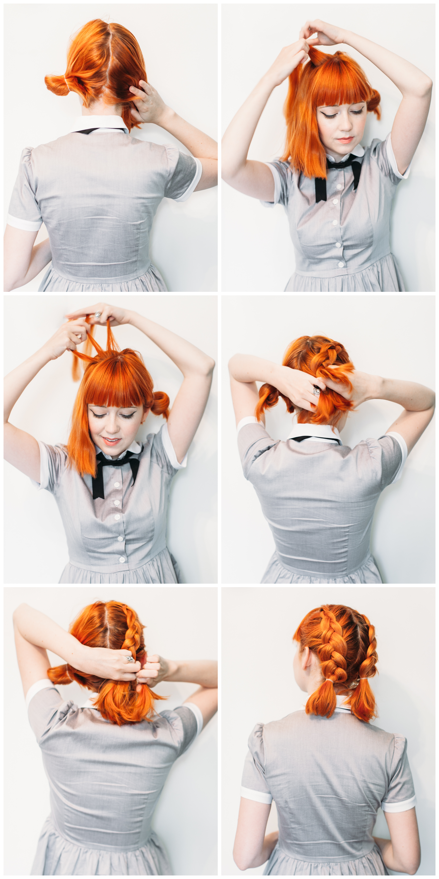 Double dutch braids for short hair (click-through for the full tutorial)