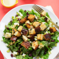 Autumn Bliss Salad with Stuffing Croutons  - September 21, 2016