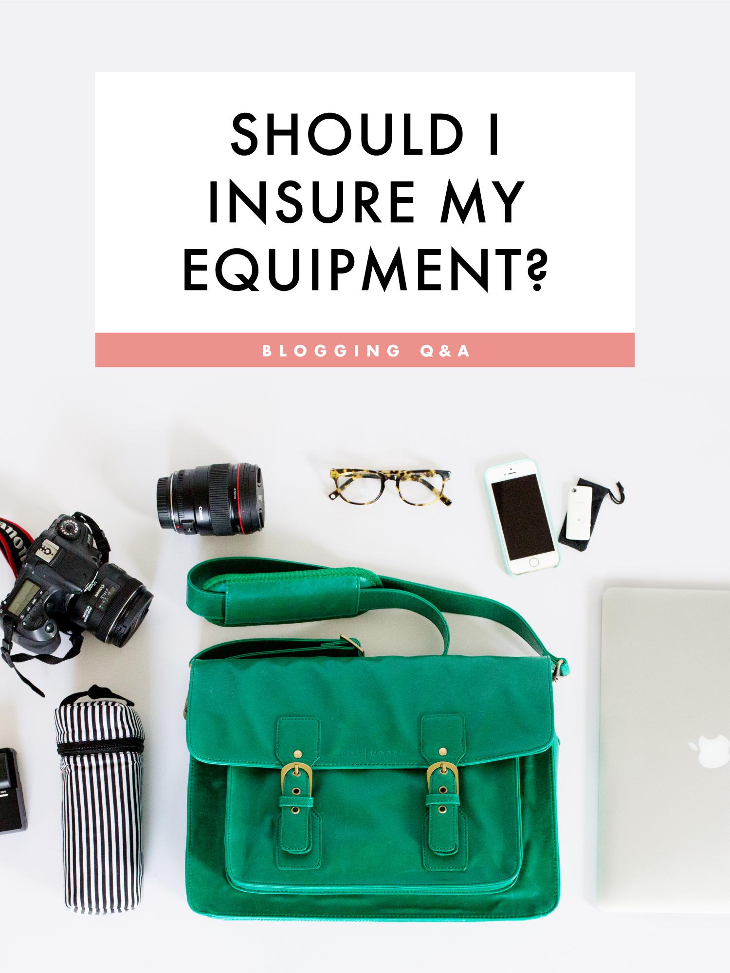 Should I insure my equipment