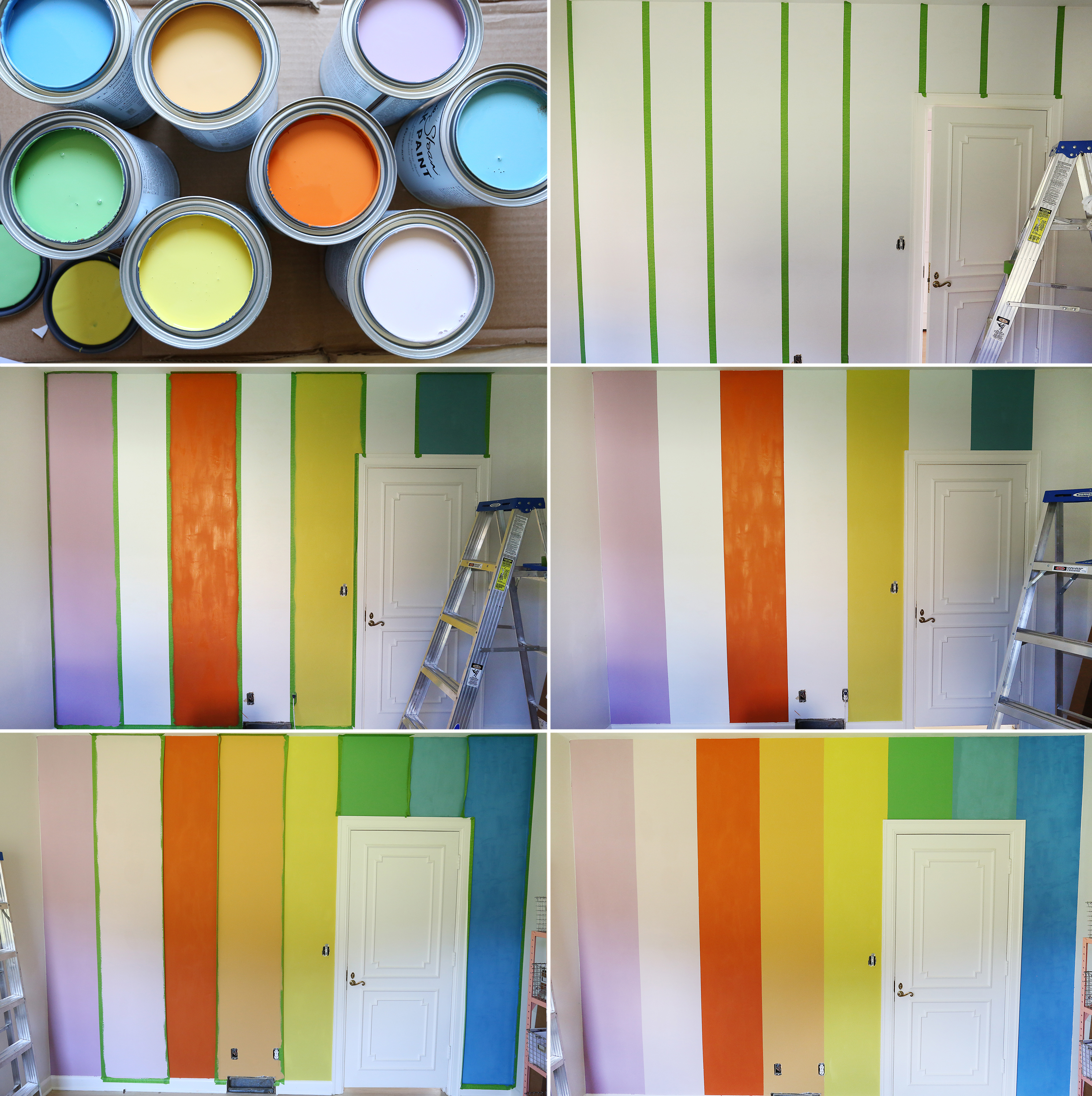Rainbow wall steps