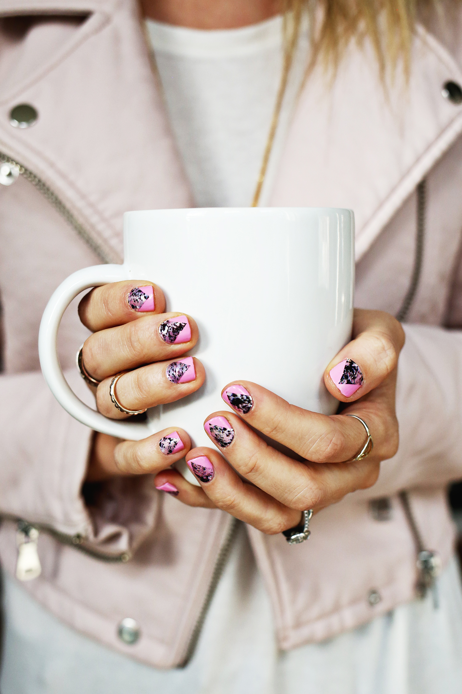 Use nail wraps to create a geometric nail design!