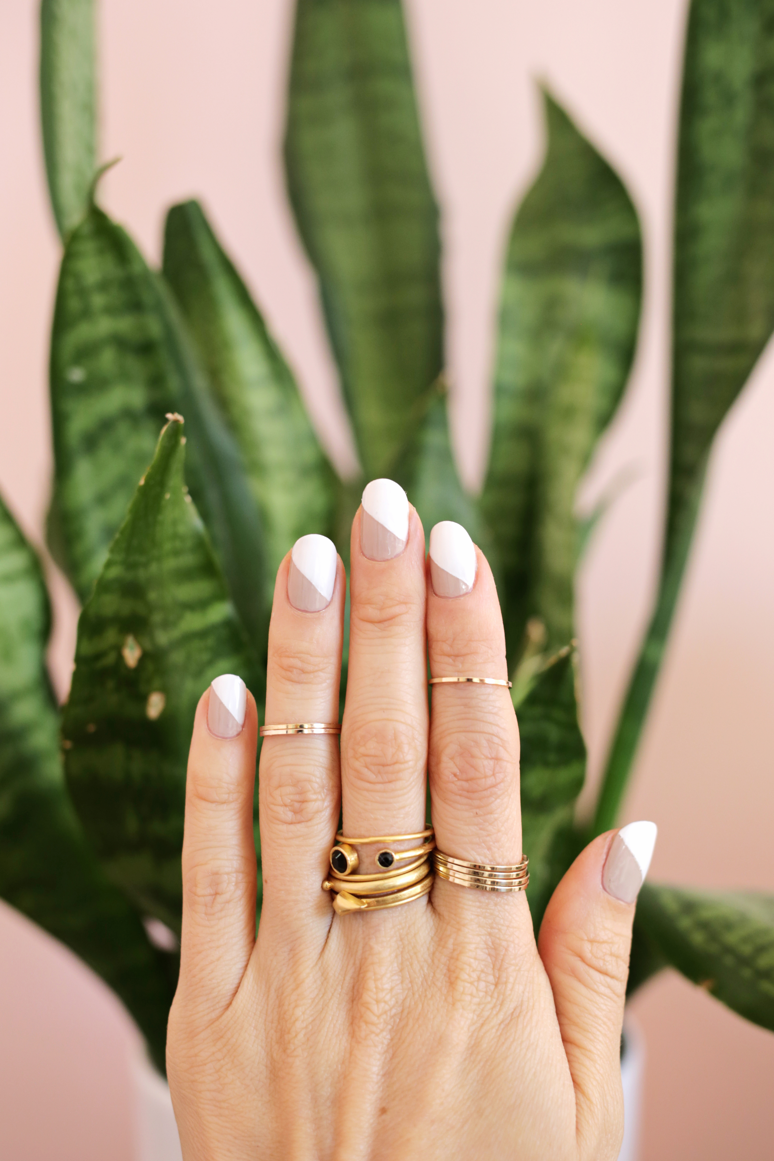 Simple nude mani (3 ways!)