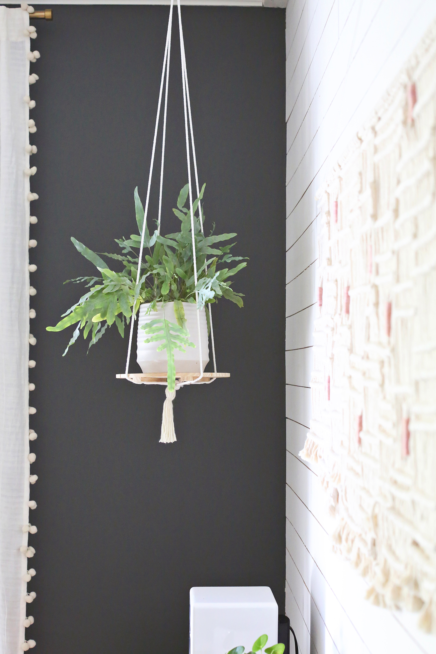 hanging plant shelf diy - Diy Hanging Planter