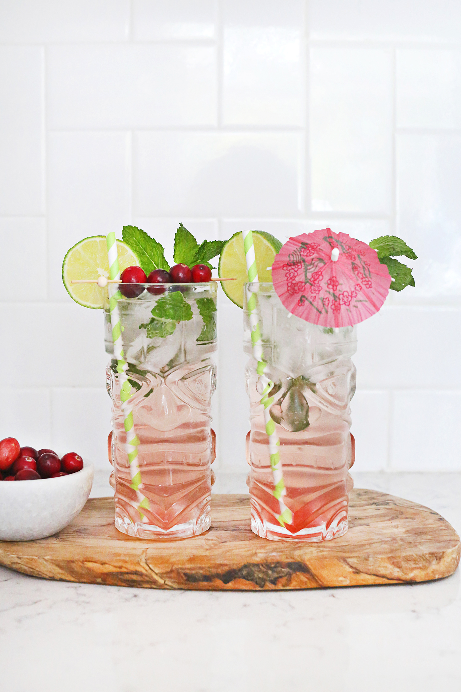 OMG Cranberry Mojitos!