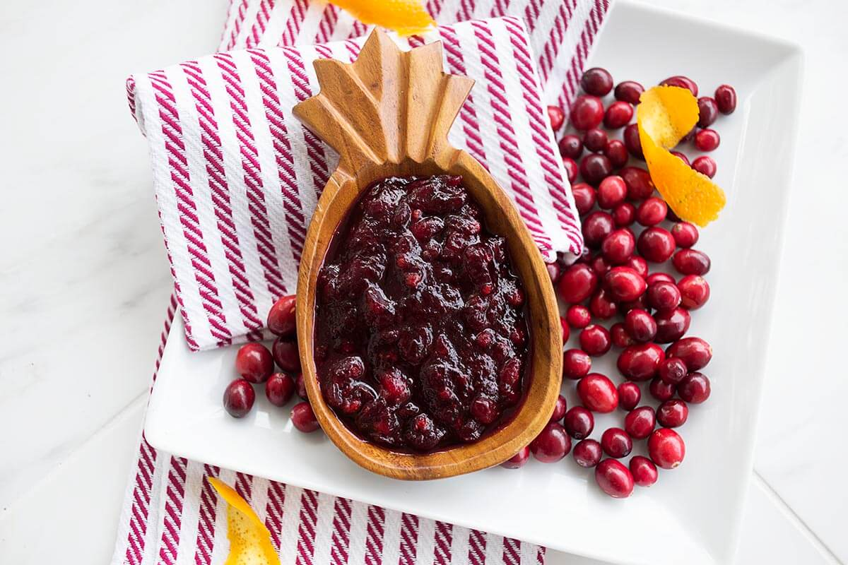 Cranberry red wine sauce