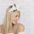White Flower Crown DIY - November 11, 2016