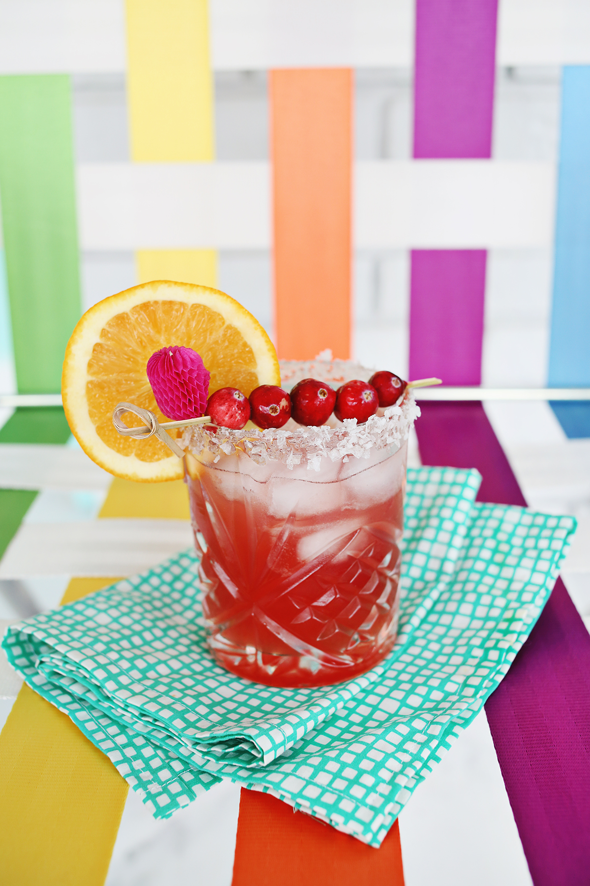 Elsie's orange cranberry margarita